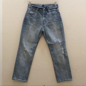 NWOT GAP Straight Leg Capri Jeans